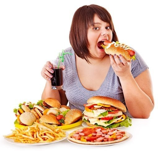 obese - overeating