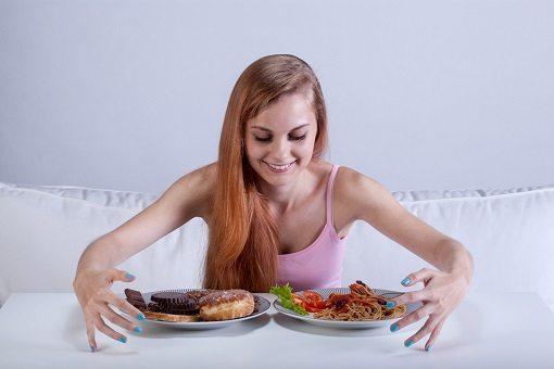 woman loves eating a lot - binge eating